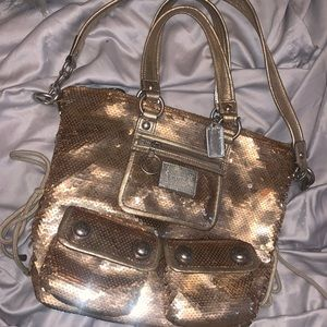 Coach Poppy Limited Edition Gold Sequin Tote